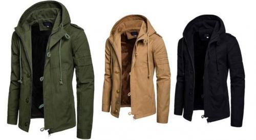 Vinter og forårs jakke i cardigan stil til mænd
