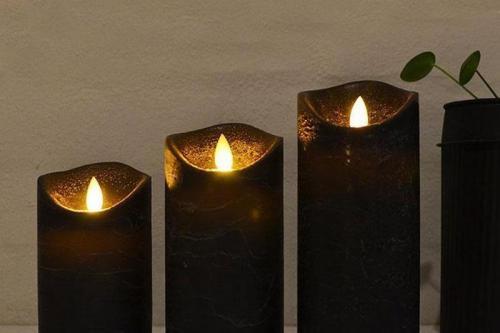 sorte led lys