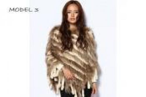 29a609eeab18 Lækker poncho af ægte pels (30 11--0001)